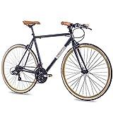 CHRISSON 28' Zoll URBAN RENNRAD Fahrrad Vintage Road 3.0 mit 21G Shimano A070 Retro Look 56cm...