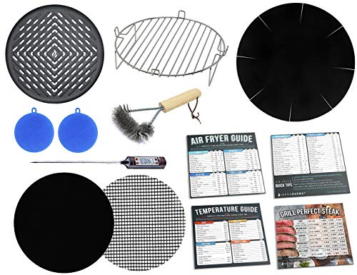 Air Fryer 7 inch Grilling Accessories Kit Compatible with Costway, Chefman, Secura, Bella, Maxi-Matic Elite Platinum, GoWise USA, Habor, Chulux, Avalon Bay, BCP, Emerald & More