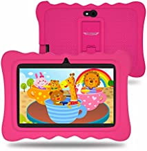 7 inch Kids Tablets Android 9.0 Tablet,2GB RAM 16GB ROM, Kidoz Pre Installed, IPS HD Display, WiFi, Kid-Proof - Pink