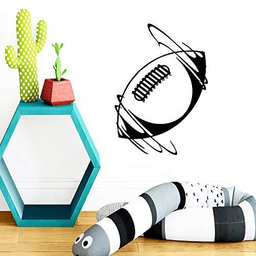 SLQUIET Bricolaje colorido rugby vinilo papel tapiz muebles decorativos para sala de estar dormitorio impermeable pared arte calcomanía en pegatinas de pared verde XL 57 cm x 80 cm