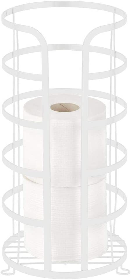 mDesign Decorative Recommended Metal Free Standing Stand Paper Toilet Surprise price Holder