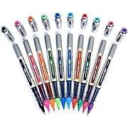 Uni-Ball EYE UB-157 Rollerball Pen Medium 0.7mm Ball [Pack of 10] One of each colour, alle Farben sortiert 10 Stück