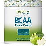 BCAA PULVER Green Apple - Aminosäuren Komplex hochdosiert - BCAAs Instant Powder Vegan - Aminosäure Supplement - Geschmack: Grüner Apfel 300g - Aminosäurepräparat