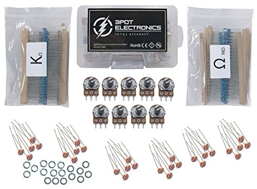 Resistor 1/4w 1%, Potentiometer B1k - B1M, Photoresistor LDR Assortment, 639 pcs