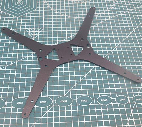 XBaofu 1pcs Tarantula / HE3D Actualiza Negro Aluminio anodizado Y Placa de Carro de la Impresora for TEVO Tarantula 3D climatizada Placa de Soporte Cama