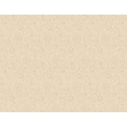 Garnier Thiebaut Tischdecke Mille Charmes Ecru de Blanc 135 x 175 cm, beschichtet