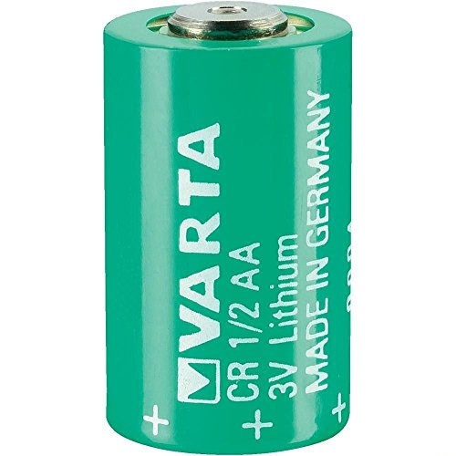 VARTA CR 1/2 AA Series Lithium 3 V 950 mAh Cylindrical Battery