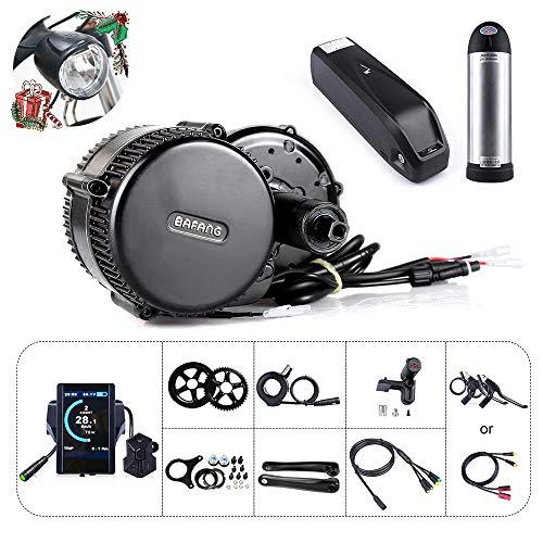 Bafang BBS01B 36V 250W/350W/500W Mittelmotor Umbausatz Elektrofahrrad Kit oder Mittelmotor Kit mit Batterie(850C 36V17.4Ah)