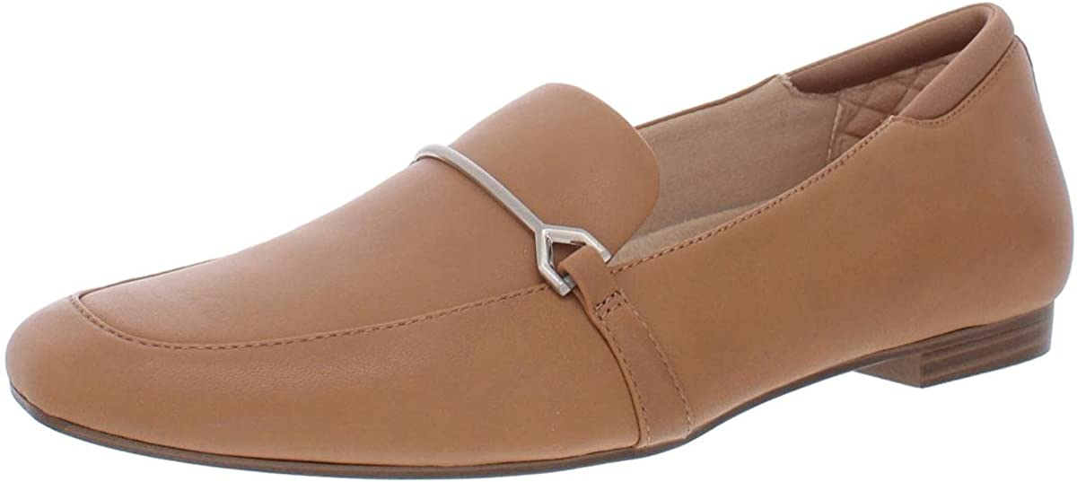 Dr. Scholl's Womens Mercury Leather Square Toe Loafers Tan 10 Medium (B,M)