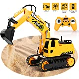 RC Excavator 2.4Ghz Remote Control Tractor Toy Full Functional 1/26 Construction Vehicles Truck with...