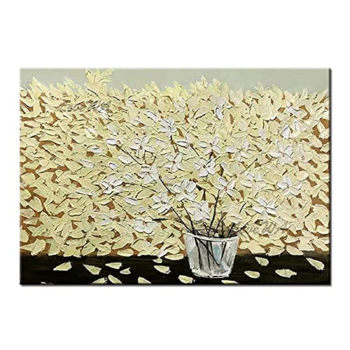 Living Equipment Hand Painted Oil Painting On Canvas,Handmade Palette Knife Art Thick Palette Knife Textured Flower Vase Oil Painting Canvas Wall Decor Art On Canvas Modern Home Wall Art Picture,1