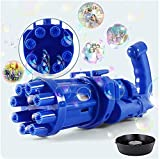 LVTIAN Toddlers Bubble Gatling Gun - 2021 Cool Toys & Gift, 8-Hole Huge Amount Bubble Maker, Strong Tightness, Children's Bubble Guns for Kids Outdoor Activities (Color : Blue)