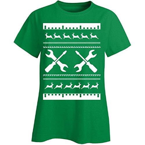 Feo Jersey de Navidad regalo para cualquier fan de mecánico–Ladies T Shirt