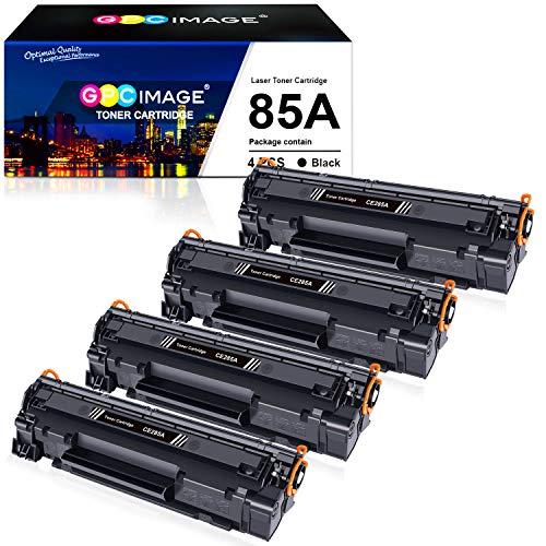GPC Image CE285A Tonerkartuschen Kompatibel für HP 85A CE285A Toner für HP P1102W P1102 P1106 M1136 M1130 M1132 M1134 M1212 M1212NF M1213NF M1132MFP M1217NFW (4 Schwarz)