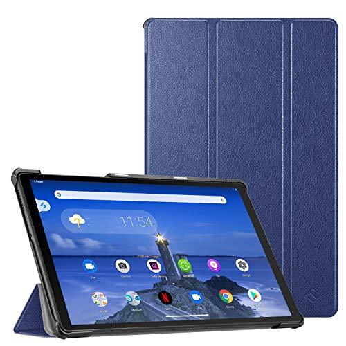 Fintie Hülle für Lenovo Tab M10 FHD Plus 10.3 Zoll TB-X606, Superdünne Flip Hülle Cover mit Auto Schlaf/Wach & Ständer Funktion für Lenovo M10 Full HD Plus 26,2 cm (2nd Gen), Marineblau
