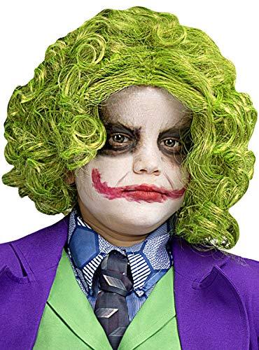 Funidelia | Peluca de Joker Oficial para nio Superhroes, DC Comics, Villanos - Multicolor, Accesorio para Disfraz