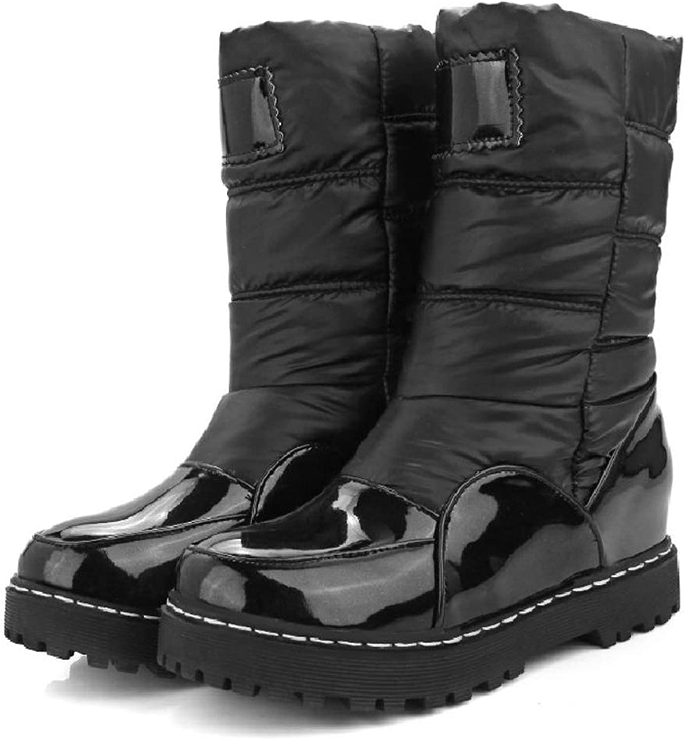 Hoxekle Winter Woman Mother Boots Slip-Resistant Waterproof Cotton-Padded shoes Women Maternity Plush Snow Boots