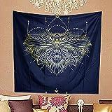 NHhuai Wandteppich Tapestry Wanddeko für Kinderzimmer Wohnzimmer Schlafzimmer auch als Yogamatte Mandala Blumendruck an der Wand