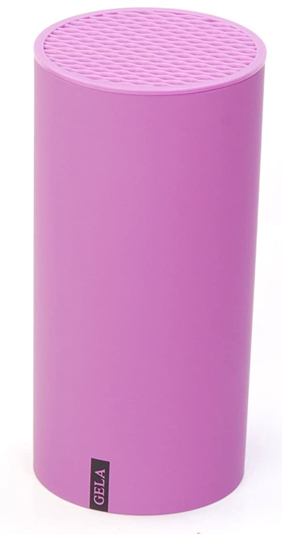 Gela Global Round Counter Knife Block, Purple