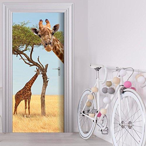 StickerProfis Türtapete selbstklebend TürPoster - Giraffe - Fototapete Türfolie Poster Tapete