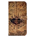 iphone 7 Plus Case Hogwarts Marauder's Map Vintage Retro Pattern Leather Wallet Credit Card Holder Pouch Flip Stand Case Cover For Apple iphone 7 Plus New