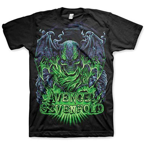 Avenged Sevenfold Herren T-Shirt- Dare to Die - Schwarz- Medium