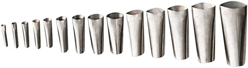 B Baosity 14-delige mondstukset van roestvrij staal.