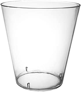 Party Essentials Disposable Hard Plastic Shot Shooter Gl  Tasting Cups, 200-Count, 2-Ounce Clear