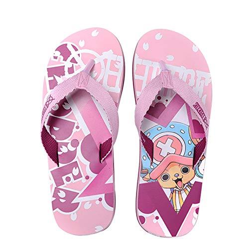 YZJYB Hombres y Mujeres Verano Flip Flops 3D One Piece Anime Series Chanclas para Playa Piscina 3D Estampado Tony Tony Chopper Zapatillas,UK 4.5~6/EU 38~39(260)