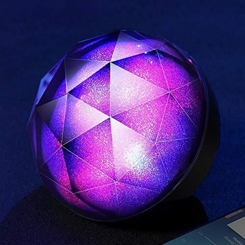 PPBB Luz de Noche Altavoz Bluetooth Colorido Cielo Estrellado Bola Altavoz Bluetooth 3D Envolvente hogar con Luces de Colores Intermitentes Audio portátil Creativo Sonido