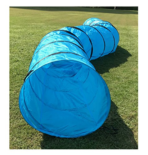 N&M Products Pet Agility Tunnel, Outdoor Training and Exercise Equipment for Dogs, Puppies, Cats, Kittens, Ferrets, and Rabbits