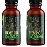 (2 Pack :: 100,000mg Each) Hemp Oil for Pain Relief Anxiety Relief Sleep Support :: Organic - Hemp Extract Supplement…