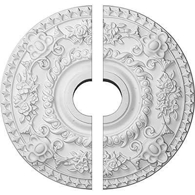 Ekena Millwork 18-Inch OD x 3 1/2-Inch ID x 1 1/2-Inch P Rose Ceiling Medallion