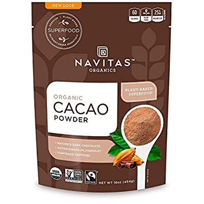Navitas Organics Cacao Powder, 8 oz. Bag — Organic, Non-GMO, Fair Trade, Gluten-Free (Pack of 3)