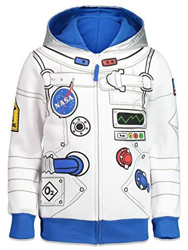Funstuff NASA Astronaut Toddler Boys Fleece Zip-Up Costume Hoodie 4T