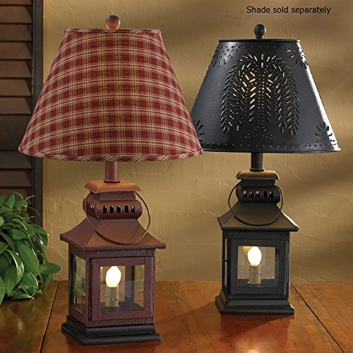 Park Designs Iron Lantern Lamp - Black