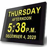 Digital Alarm Day Clock- 16 Reminders & Custom...