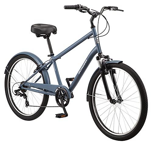 Schwinn Regioneer Mens Hybrid Comfort Bike, 26-Inch Wheels, 7 Speed, 17-Inch Steel Frame, Alloy Linear Brakes, Blue