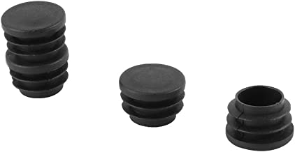 uxcell® Plastic Blanking End Caps Round Tube Insert 25mmx16mm Black 4pcs