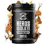 GODSRAGE HEROS ISOLATE - frullato proteico per il fitness con cartoline esclusive - 1000g (VERCINGETORIC Choco Caramel Nut-Nuez de caramelo de chocolate)