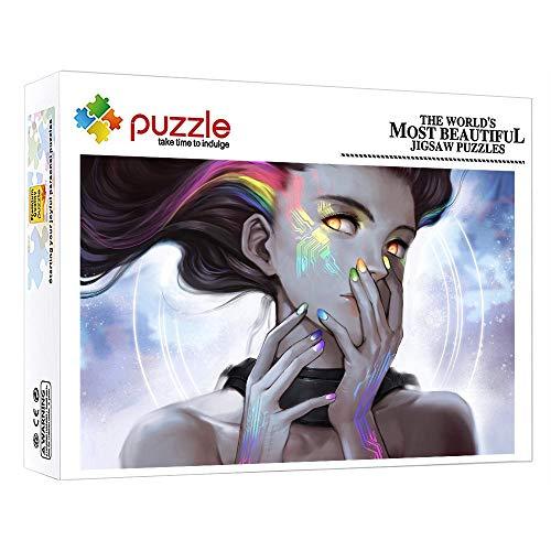 ZTCLXJ 1000 Piezas Jigsaw De Madera Chica De Personajes De Anime 1000 Piezas Color Surtido Puzzles para Infantiles Adolescentes Regalo De Cumpleaños 30 X 20 Pulgada