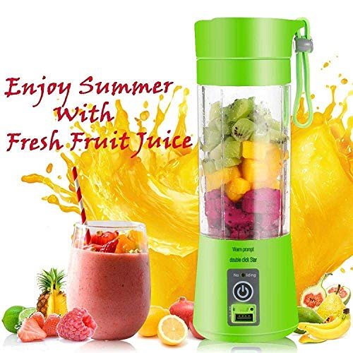 ULTRACET Plastic Portable USB Electric Blender Juice Cup (Multicolour)