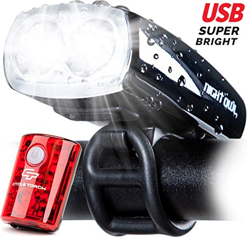 Cycle Torch Night Owl USB Rechargeable Bike Light...