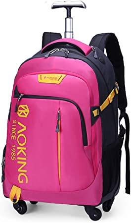 AOKING 20/22″Water Resistant Rolling Wheeled Backpack