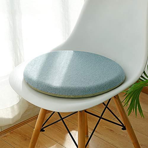YZHY Cojín Redondo de Espuma viscoelástica,cojín de Asiento para sillas de Comedor de Cocina,cómodos Cojines Acolchados para sillas Redondas para el hogar,la Cocina,la Oficina,el Coche