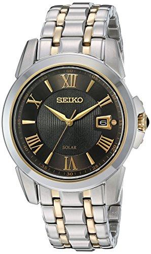 Seiko SNE398 LGS - Reloj de Cuarzo japonés con Pantalla analógica Solar para Hombre