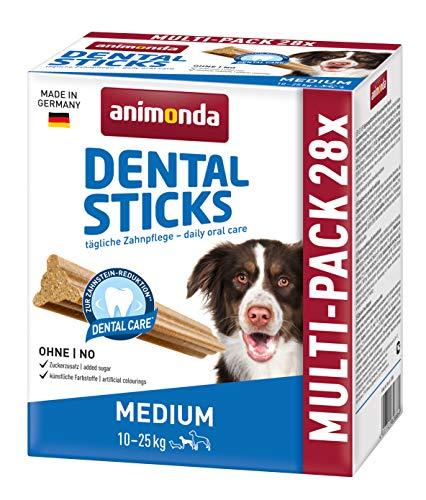 animonda Dental Sticks Kaustangen, Zahnpflegesnacks zur Unterstützung der Mundhygiene ausgewachsener Hunde, Medium, Multipack, 720 g