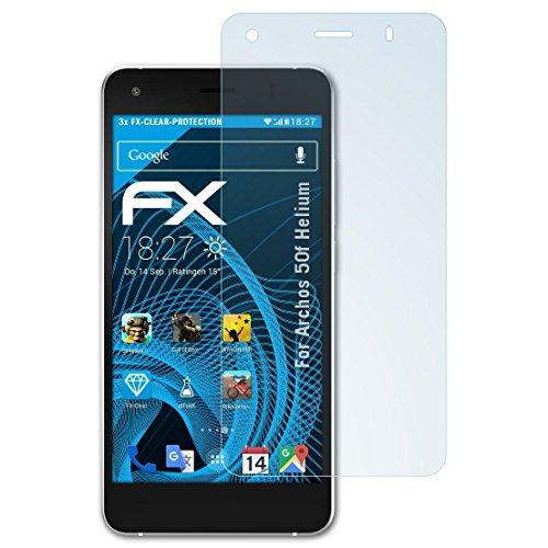 atFolix Schutzfolie kompatibel mit Archos 50f Helium Folie, ultraklare FX Bildschirmschutzfolie (3X)
