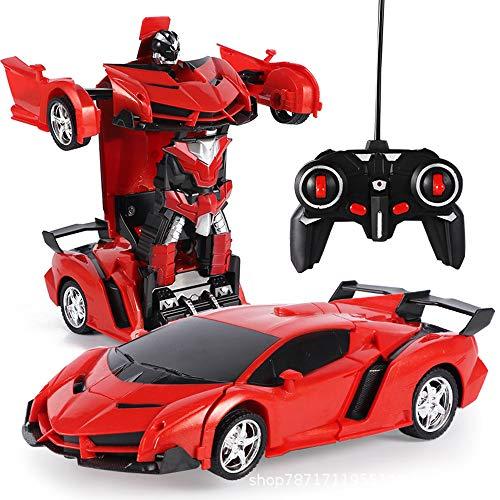 Akemaio 2 en 1 RC Robot Transformador Coche teledirigido Transformers conducción de automóviles de Deportes Coches Robot de Control Remoto de Coches