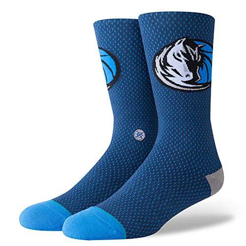 Stance Mavs Jersey Calcetines, azul marino, talla única para Hombre